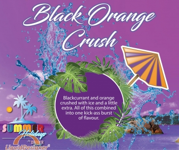 Dinner Lady Black Orange Crush *SALE*