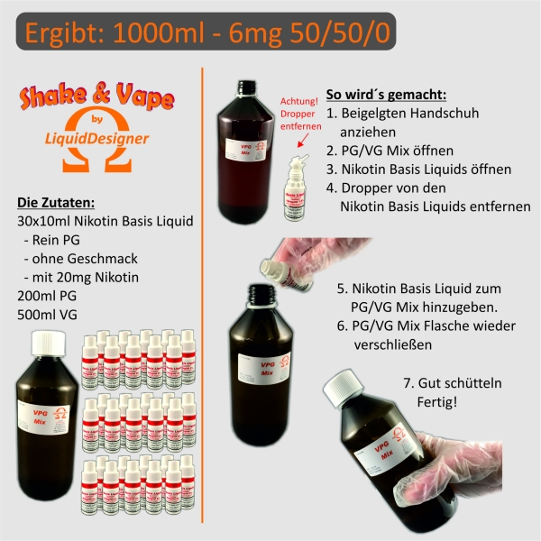 Shake & Vape Fifty Fifty Base 50/50/0